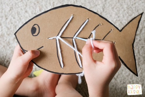 Sewing activity for kids