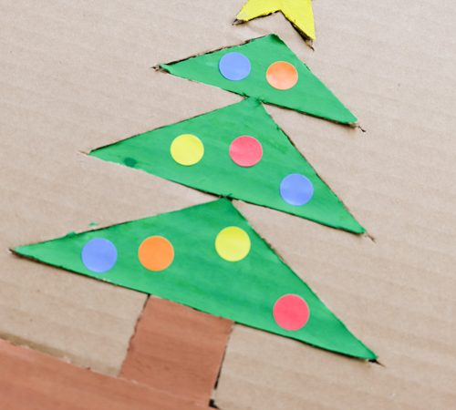 DIY Christmas Tree Cardboard Puzzle