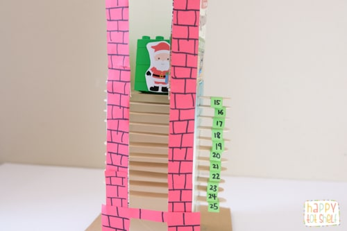 Milk carton chimney Christmas countdown