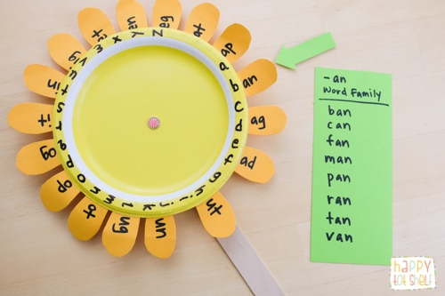 Word family sunflower learning toy