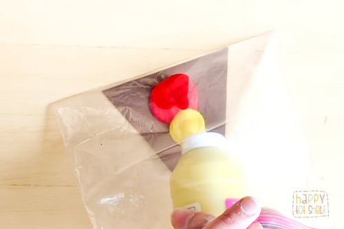 Ziploc bag painting