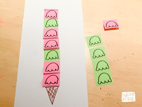 Ice Cream pattern Activities for Kids
